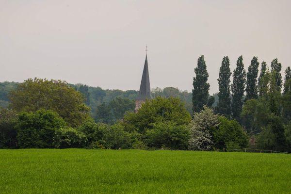 Les bois autour de Bruille-Saint-Amand où se déroulent les combats.