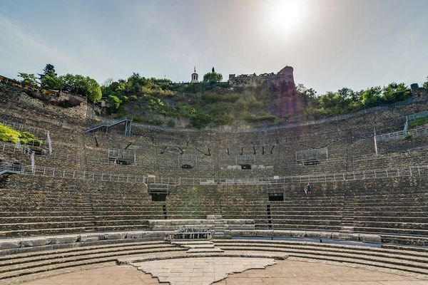 Le Théâtre antique où se déroule le festival Jazz à Vienne, en Isère.