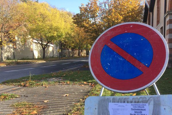 la circulation sera interdite autour du parc de Champagne.