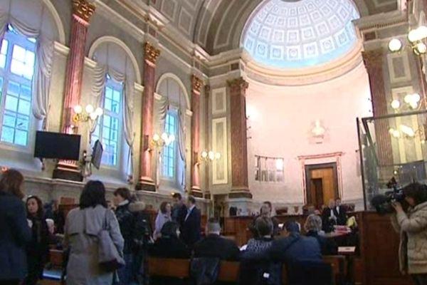 La salle d'audience où siège la cour d'Assises des mineurs de Pyrénées-Atlantiques