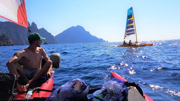 Expédition en trimaran-kayak autour de la Corse