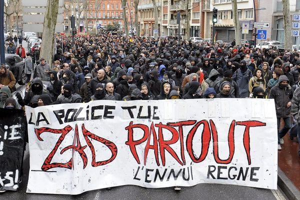 Une manifestation anti-Sivens en 2015 à Toulouse