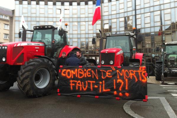 Manifestation des agriculteurs à Chartres (Eure-et-Loir)  - 2 février 2016