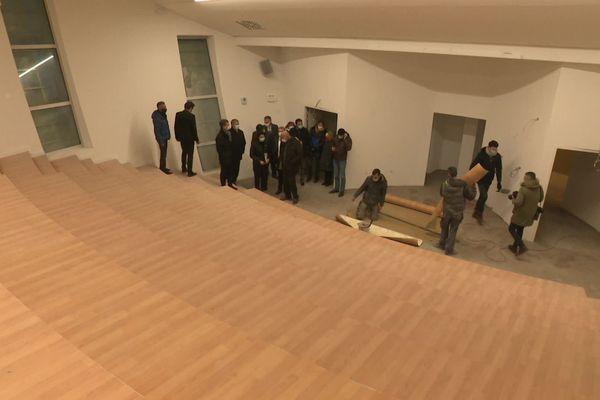L'un des amphithéâtre en cours de finition sur le campus des formations paramédicales de Limoges