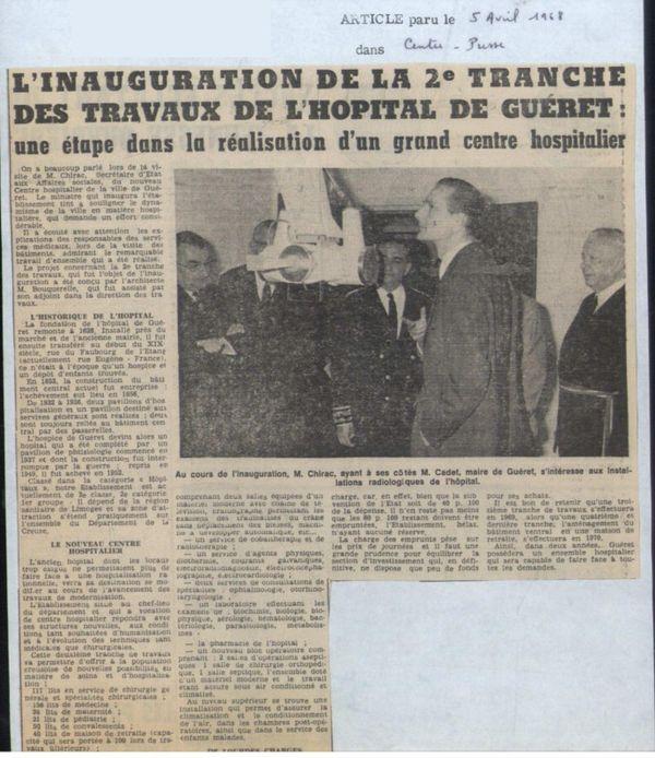 De précédents équipements avaient été salués en 1968 par Jacques Chirac.
