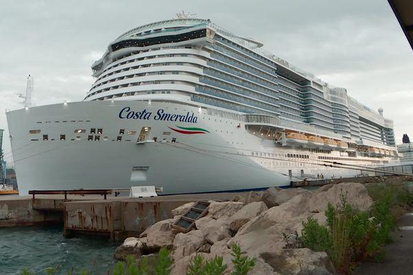 Un peu plus de 2000 passagers ont embarqué à bord du Costa Smeralda