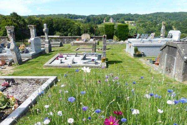 Le cimetière de Saint Bonnet les Tours de Merle (19)