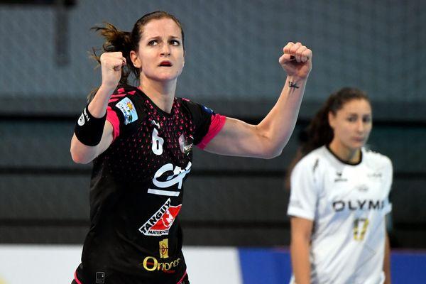 Avec ses 10 buts, Ana Gros a fortement contribué à la victoire des Brestoises contre Krim ce dimanche.