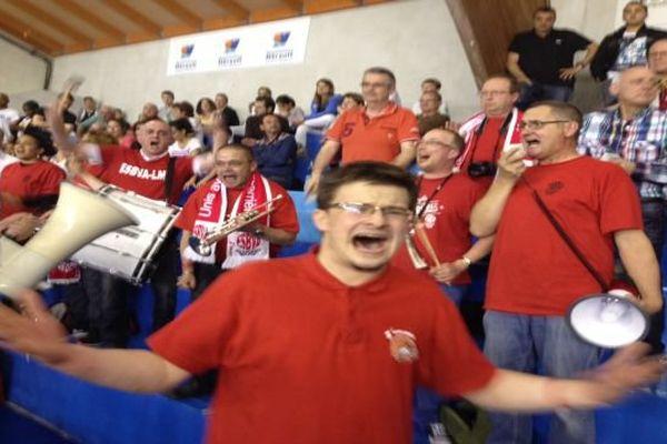La joie et l'euphorie des supporters de Villeneuve d'Ascq