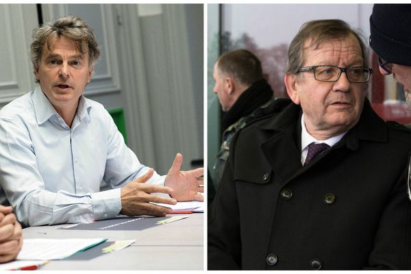 Fabien Roussel (à gauche) et Alain Bruneel (à droite).