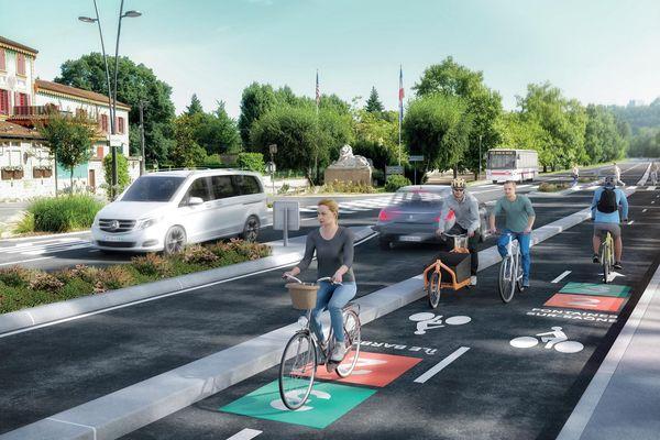 Les 13 lignes du futur réseau auront toutes des itinéraires propres, elles seront séparées des infrastructures routières etdes espaces piétons, etseront suffisamment larges pour faciliter les dépassements entre vélos.