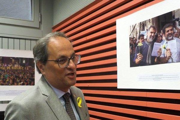 Le président de la Généralité de Catalogne est venu recueillir le soutien de Perpignan;