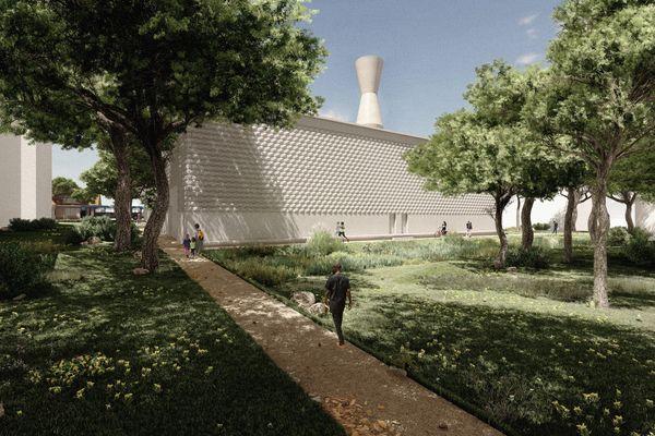 Prospective numérique de la future chaufferie biomasse située rue des chasseurs à Montpellier.