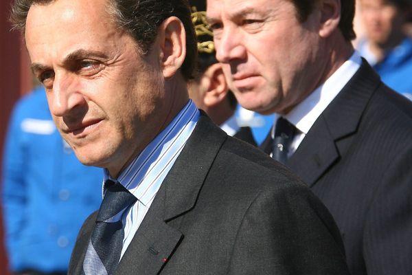 Mars 2006 : Nicolas Sarkozy et Christian Estrosi.