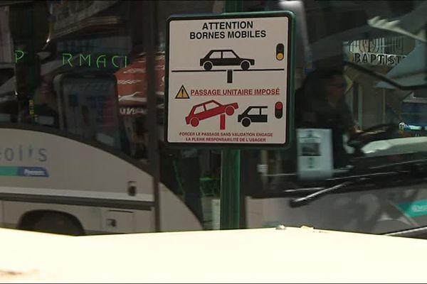 Sept bornes anti-attentat sont actuellement testées à Lourdes (65).