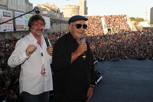 Gérard Pont et Jean-Louis Foulquier lors des Francofolies 2009.