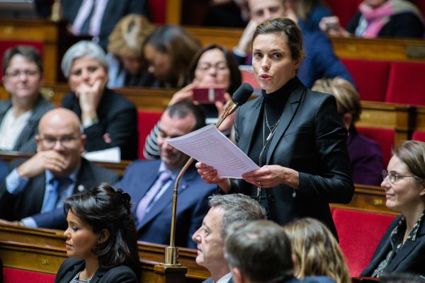 La député LREM, Caroline Janvier, à l'assemblée nationale, le 20 février 2018.