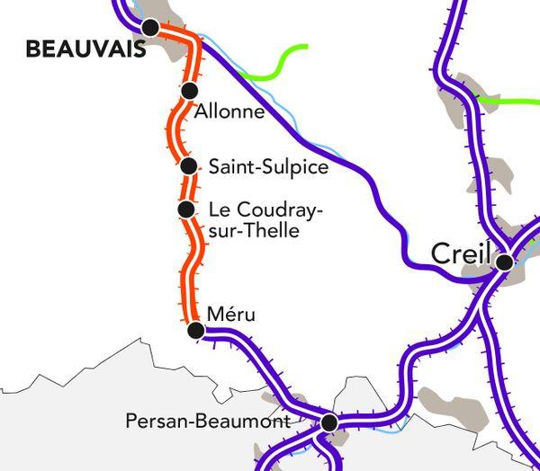 Aucun train ne circulera entre Beauvais et Méru du 15 juillet au 30 août.
