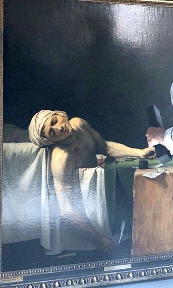 """Dans le cadre du plan national « Culture près de chez vous », le musée Médard accueille un chef-d'œuvre exposé à Versailles : """"Marat assassiné, 13 juillet 1793""""."""