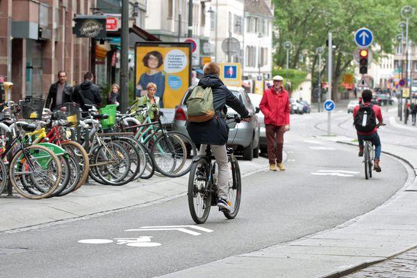 Une vélorue de Strasbourg en 2017
