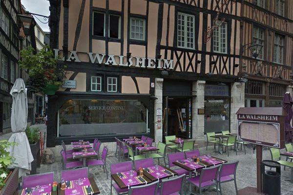 Le restaurant La Walsheim à Rouen compte 5 cas de Covid-19 parmi ses employés.