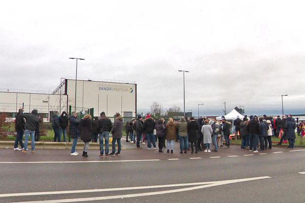 19 janvier 2021- 10h30 : mobilisation des salariés de Sanofi Val de Reuil (Eure)