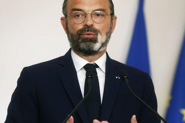 Le Premier ministre, Edouard Philippe, lors d'une conférence de presse à Matignon sur l'épidémie de Covid-19, le 19 avril.