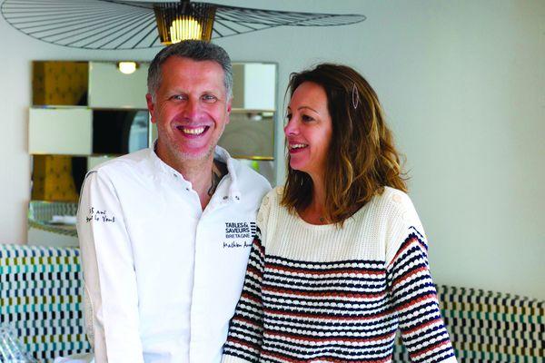 Mathieu et Sophie Aumont : le duo aux commandes du restaurant étoilé Aux Pesked