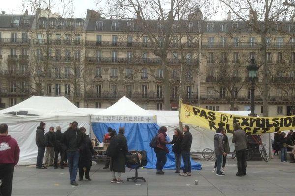 La place de la République, à Paris, ce samedi