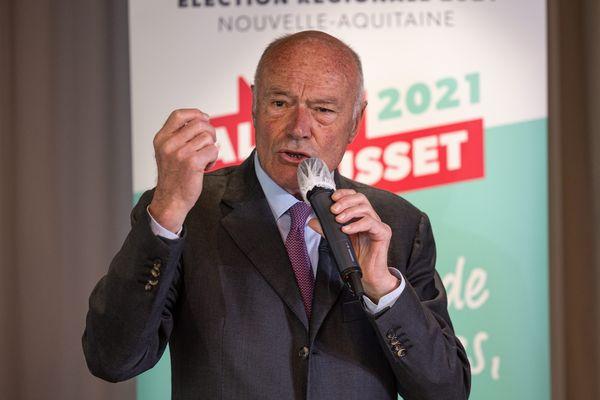 L'actuel président de Région, Alain Rousset, arriverait en tête avec un quart des intentions de votes, lors de ces élections Régionales 2021.