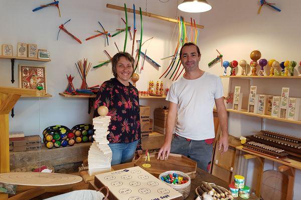 Christophe et Aline Bethoul, les propriétaires de la boutique
