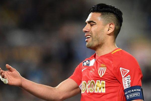 Falcao, le capitaine de l'AS Monaco, le 31 mars 2018