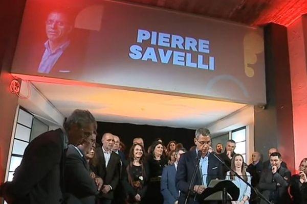 """Pierre Savelli a présenté sa liste """"Bastia più forte inseme"""" le 19 février."""