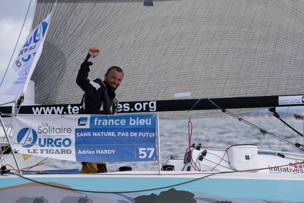 le skipper nantais Adrien Hardy remporte la seconde étape de la Solitaire