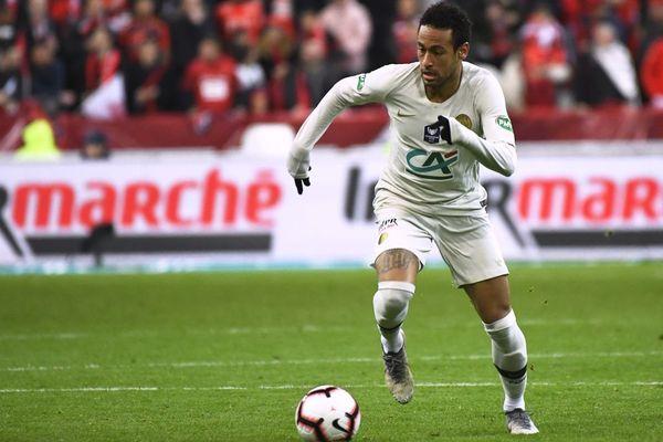 L'attaquant du Paris Saint-Germain, le Brésilien Neymar lors de la finale de Coupe de France opposant Rennes et le PSG - 27/04/2019