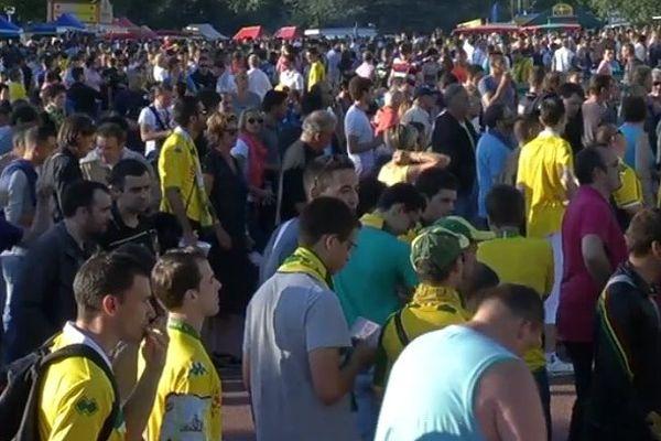 Les supporters du FC Nantes avant le match contre Bastia