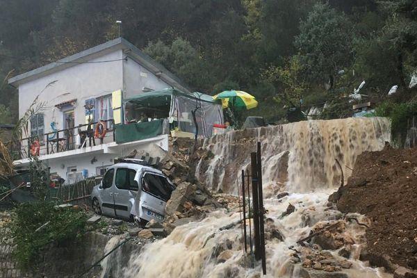 Une coulée de boue à Saint-Agnès au mois de décembre 2019
