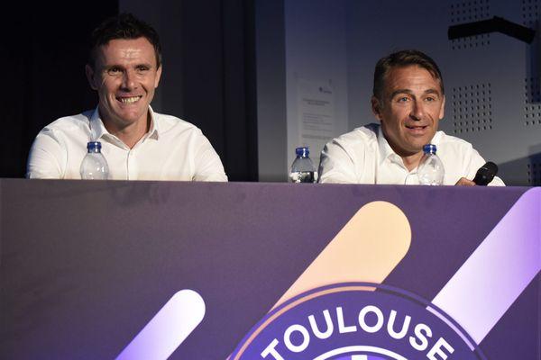 Président du TFC depuis son rachat en 2001, Olivier Sadran a accordé sa confiance et son soutien à Jean-François Soucasse (à gauche sur la photo) à partir de 2004.