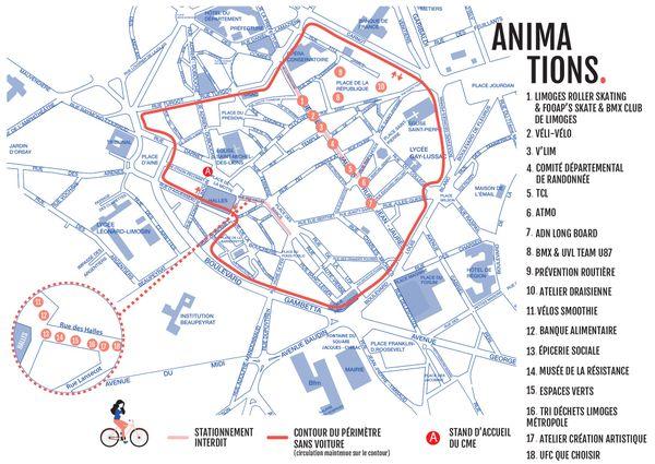 Plan des animations de la journée sans voiture 2021.