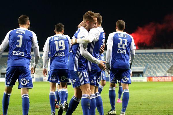 Illustration. Les joueurs du SC Bastia le 7 décembre 2020.