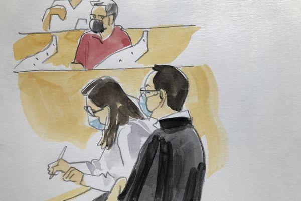 Maître Chebbani l'avocat de Laurent Dejean devant la cour d'assises du Tarn, mercredi 30 juin
