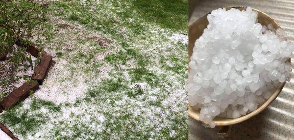 Chute de grêle à Oberhoffen-sur-Moder dans la matinée du 17 mai.