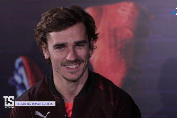"""Antoine Griezmann répond aux questions de """"Tout le sport"""", diffusé sur France 3 le 18 février 2019."""