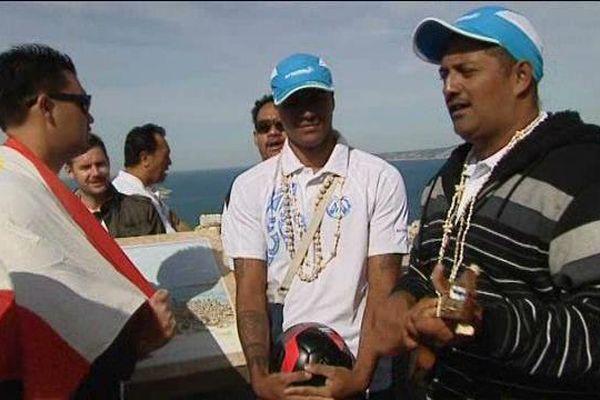Ce vendredi matin, les supporteurs tahitiens ont prié pour l'OM à Notre Dame de la Garde.