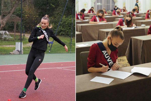 Epreuves sportives ou de culture général, répétitions, l'emploi du temps de Miss Auvergne est bien chargé.