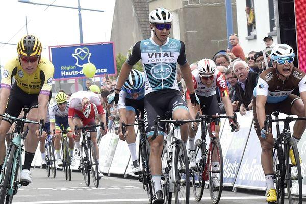 Le Français Bryan Coquard (Vital Concept) a remporté la 4e étape des 4 jours de Dunkerque.