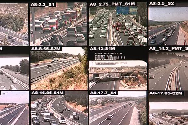 la circulation vue par les caméras du PC sécurité d'Orange