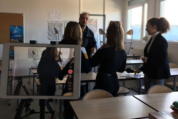 Les élèves de 3 éme du collège Roger Salengro de Saint-Martin-Boulogne à la rencontre de P. Rousselle journaliste
