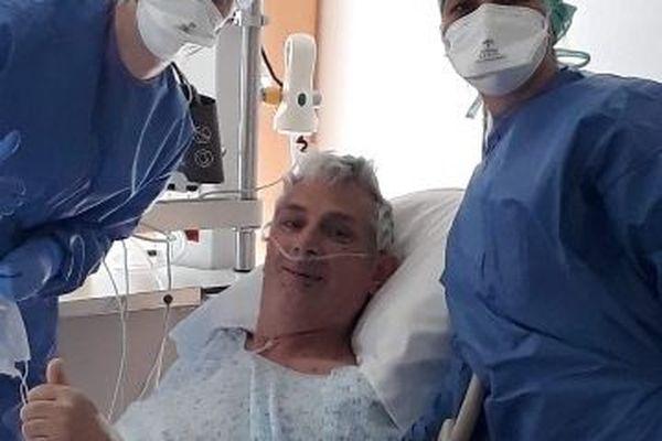 Serge Reeg a passé trois semaines dans le coma au CHU de Nantes - Les photos et vidéos permettaient de garder le contact avec ses proches