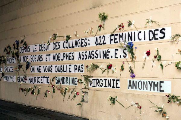 Le mémorial en hommage aux 122 femmes victimes de violences le 2 septembre 2020 dans le 11e arr. à Paris.